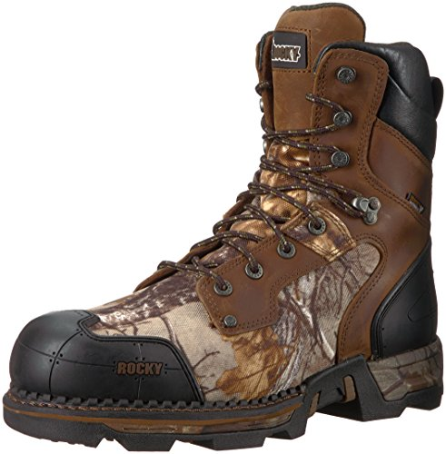 Rocky Men's RKS0322 Mid Calf Boot, Brown Camoflauge, 10 M US (Square Ride Rocky)