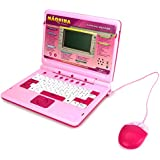 'BT Learning Machine' Bilingual Educational Toy Laptop for Kids, Learn & Play in English/Spanish, 60 Fun Activities/Games about Language, Math, Music (Pink)