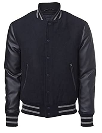 College jacke echtleder armel
