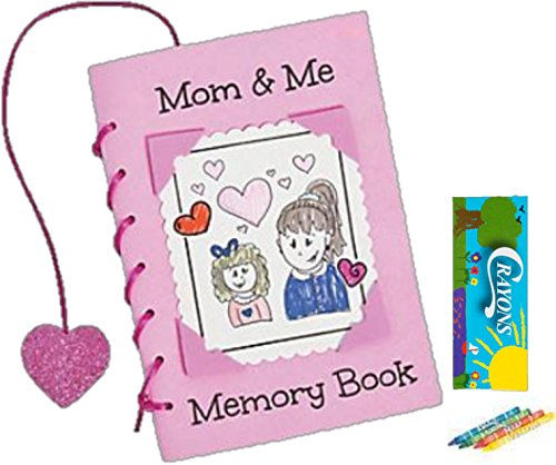 GBBD Mother's Day Kids Craft Mom & Me Memory Foam Book 12 Books and 12 Packs of Crayons