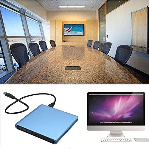 DLPIN USB 3.0 Ultra Portable External CD DVD RW DVD ROM Drive/Writer/Burner for Laptops, Desktops, Notebooks Mac, Macbook Pro Air iMAC (Blue) by DLPIN (Image #5)