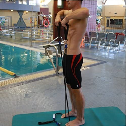 stroke efficiency proper hip rotation Strechcordz Modular Set ~ Yellow 5-14lbs ~ Swimmers Wet /& Dry Land Kit for swimmers pull overhead raises tricep extensions rowing