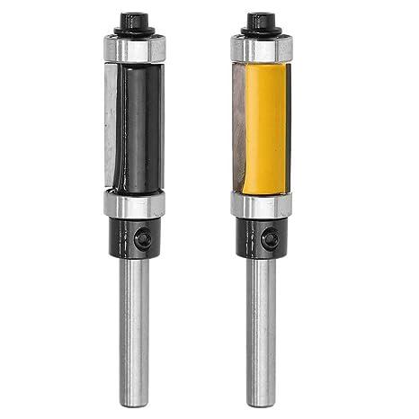 "25mm Flush Trim Bit Set 1//4/"" Shank Router Bit Bearing Cutting Edge Black"