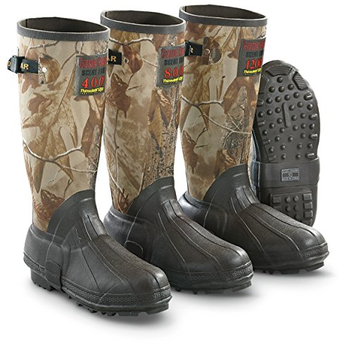 Guide Gear Men's 15'' Insulated Rubber Boots, 400 Grams, Realtree AP Camo by Guide Gear