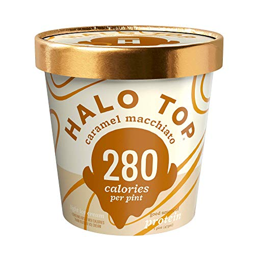 Halo Top Ice Cream Pint, Caramel Macchiato, 16 Ounce (Pack of 8) (The Best Halo Top Flavors)