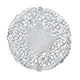 Hygloss 12-Inch Round Silver Doilies, 12-Pack