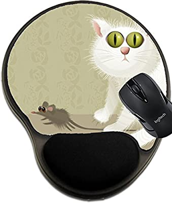 MSD Natural Rubber Mousepad wrist protected Mouse Pads/Mat with wrist support design 36771618 Cat hunter