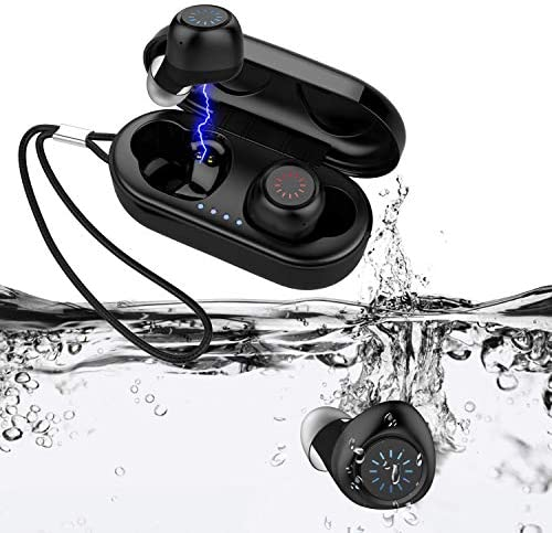 HIFEER Q65 Wireless Earbuds Bluetooth 5.0 Waterproof IPX7 Headphones with Microphone HiFi Stereo Sound Noise Canceling Easy Pairing for Sport Running Gym
