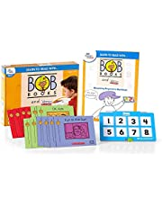 hand2mind - 90810 Learn To Read With BOB Books And VersaTiles Advancing Beginner Set, Early Reader Books For Kids Ages 4-6, 12 BOB Books, Workbook And Answer Case, Homeschool Kindergarten Supplies