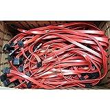 """Interloper SATA Cables Straight Tip x2, No Lock x2 (Lot Of 5) approx. 23""""-24"""" SATA Cables, Straight Tip x2, No Lock x2, approx. 23""""-24"""""""