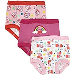 Peppa Pig Toddler Girls' 3pk Training Pant, Assorted, 2T