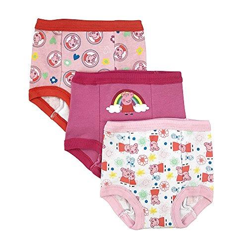 Peppa Pig Toddler Girls' 3pk Training Pant, Assorted, 3T (Toddler Panties Padded)