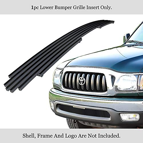 APS Fits 2001-2004 Toyota Tacoma 2WD Bumper Stainless Black Billet Grille Insert #T65438J