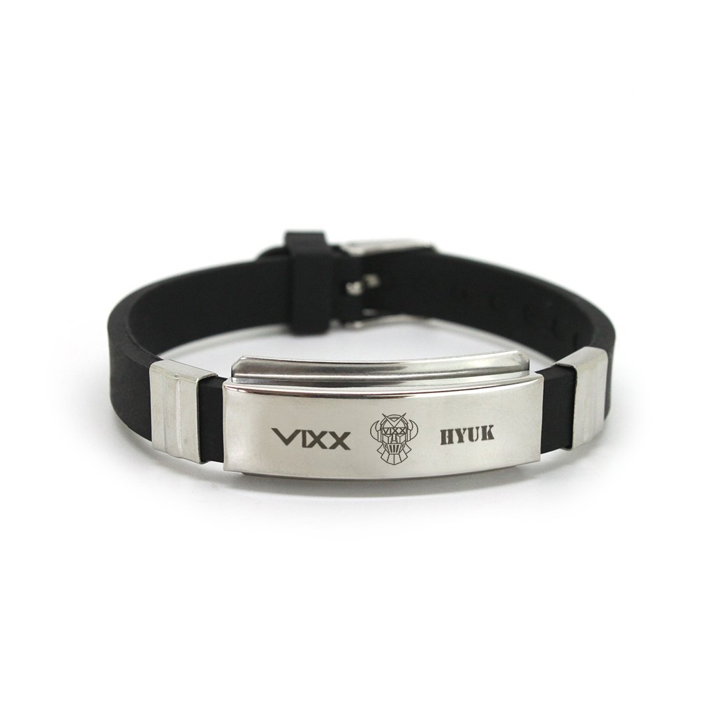 Fanstown Fashion VIXX Titanium Silicon Wristband with lomo Cards Anti-Rust and Water Prove bracelet-VIXX-logo
