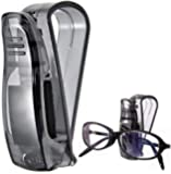 Car Visor Glasses Sunglasses Ticket Clip Holder Stand - Clear Black