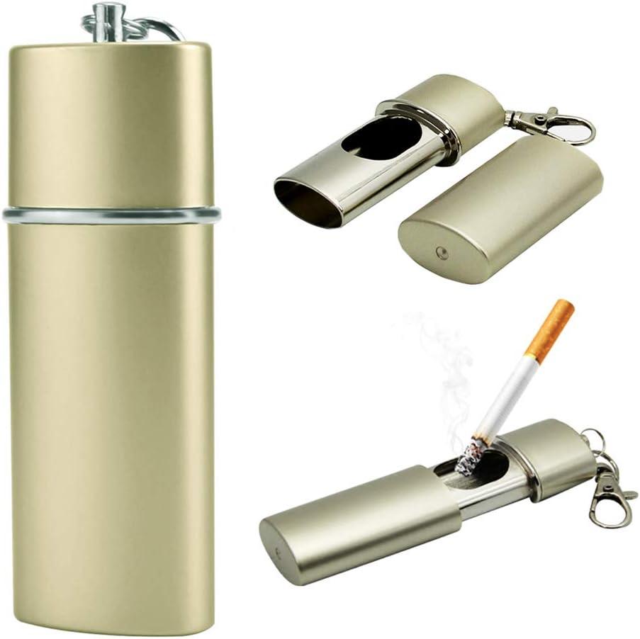 NGE 携帯灰皿 おしゃれ メンズ キーホルダー スライド カラビナ付 防水 持ち運び におわない 合金 アウトドア 灰皿 携帯用