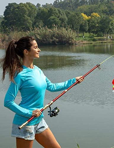 Women's Quick Dry Shirts UPF 50+ Sun Protection Long Sleeve Lightweight T-Shirt Outdoor Hiking Runing Fishing