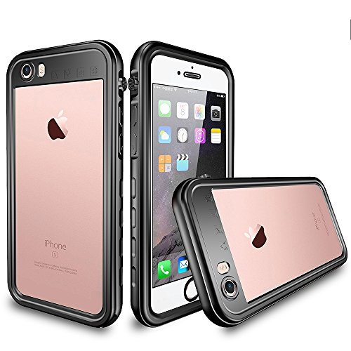 Co-Goldguard iPhone 6 Plus Waterproof Case iPhone 6s Plus Waterproof Case IP 68 Underwater Cover Outdoor Shockproof Snowproof Dirtproof 360 Full Protection Shell for iPhone 6+/6s+,Black+Clear
