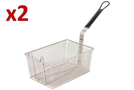 2 x sartén cesta para freidoras Lincat Opus 800 Gas/eléctrico de repuesto, P