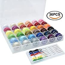 Renashed 36 color Sewing Thread Needles Set Machine Bobbins and Assorted Colors for Brother/ Babylock/ Janome/ Kenmore/ Singer