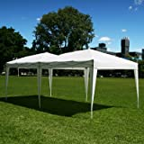 Palm Springs 10 x 20 EZ POP UP WHITE Canopy New Gazebo NO Sidewalls, Outdoor Stuffs