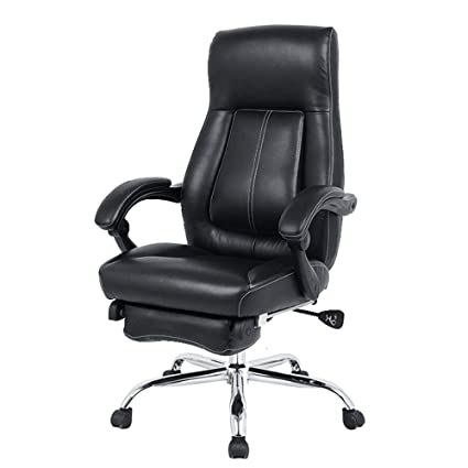 2c4d55fe8 Amazon.com: Leather Office Chair Rotating Lifting Contraction Foot ...