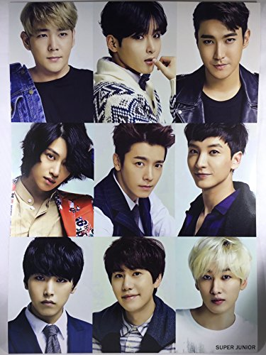 SUPER JUNIOR スーパージュニア グッズ / A3 ポスター 12枚 + ステッカー シール 1枚セット - A3 Size Poster 12sheets + Sticker 1sheet [TradePlace K-POP 韓国製]