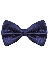Alizeebridal Men's Formal Solid Adjustable Bow Tie-Navy