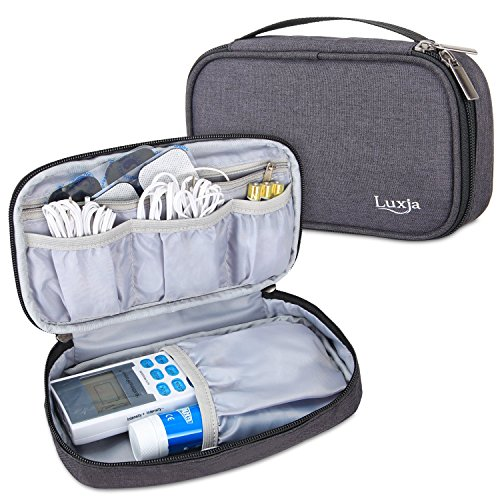 Luxja Carrying Case Compatible with HealthmateForever YK15AB TENS Unit Electronic Pulse Massager (Empty Case Only), Black