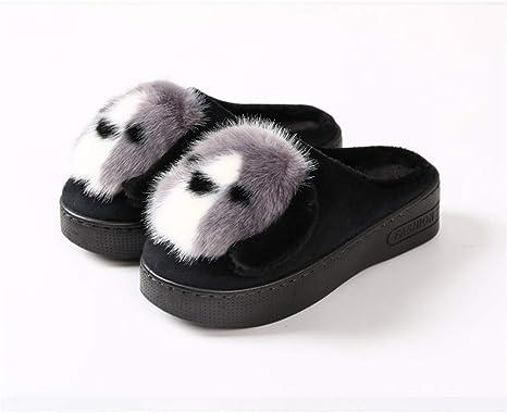 KKCD-slippers Zapatillas Zapatos De Invierno Incluido con Zapatos De Algodón Perezoso Grande Casa De Perro ...