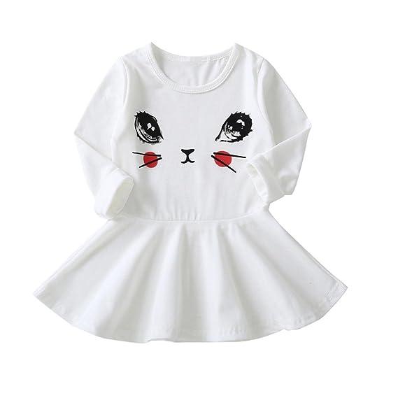 🌸 Vestidos Bebe Otoño, 🌸 Zolimx Niñas Bebés Recién Nacidos Ojos Impresión de Manga Larga Vestido Ropa Casual Vestidos: Amazon.es: Ropa y accesorios