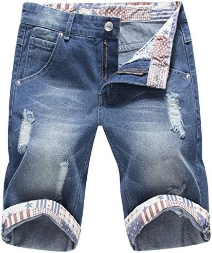 ショートパンツ メンズ デニム ダメージ加工 ハーフパンツ ジーンズ カジュアル 大きサイズ 短パン スウエットデニム 膝上 夏 ファション