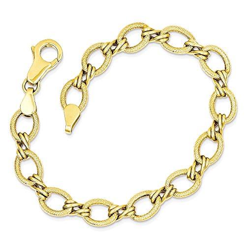 Icecarats Créatrice De Bijoux 14K Bracelet Fantaisie En 7 Pouces