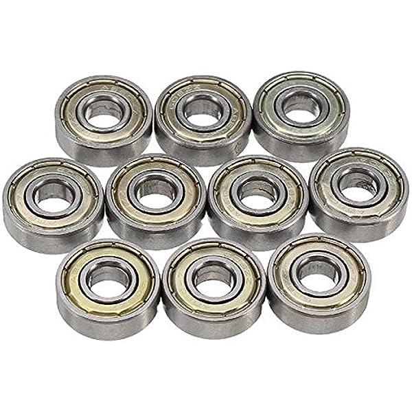 10pcs Stainless Steel Bearings for Skate Skateboard ABEC-7 608ZZ 608RS