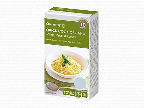 Quick Cook Organic Millet, Peas & Lentils - 250g by CLEARSPRING WHOLEFOODS by CLEARSPRING WHOLEFOODS