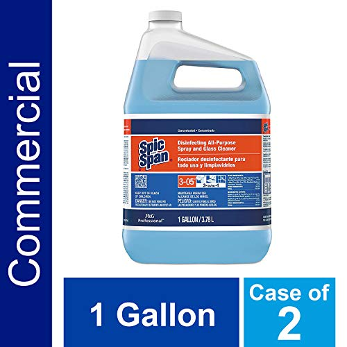 - Disinfecting Surface and Glass Cleaner from Spic and Span Professional, Bulk 3-in-1 Multi-Purpose Cleaner, 15x Concentrate, Fresh Scent, All Purpose Commercial Use, 1 Gal. (Case of 2)