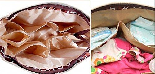 Bebé Bolsa de Pañales Nappy bolso para las mujeres Messenger bolso cambiador leopardo marrón leopardo rosa