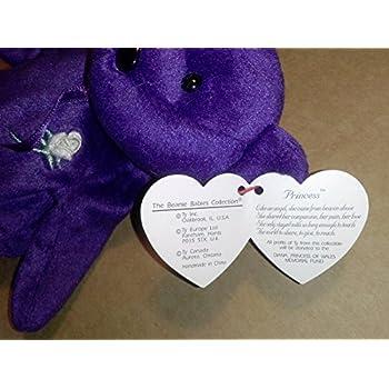 Amazon.com  Ty Beanie Babies Princess Diana 1997 Original Release PE ... 36da696ba5a