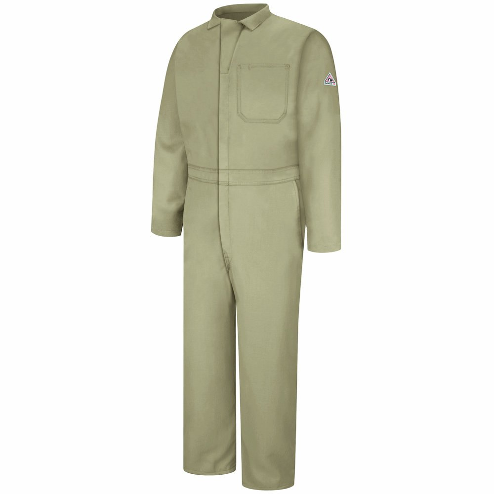 Bulwark Flame Resistant 4.5 oz Nomex IIIA Long Classic Coverall with Hemmed Sleeves, Tan, Size 58