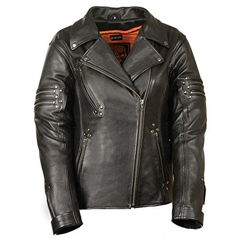 Milwaukee Women's Updated Motorcycle Jacket (Black, XXX-Large)