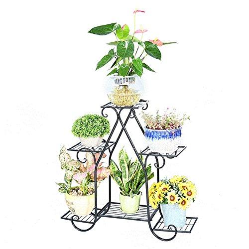 Wrought iron/european-style wrought iron/floor metal flower racks/living room balcony flower-A by SHDUAYGSCXS
