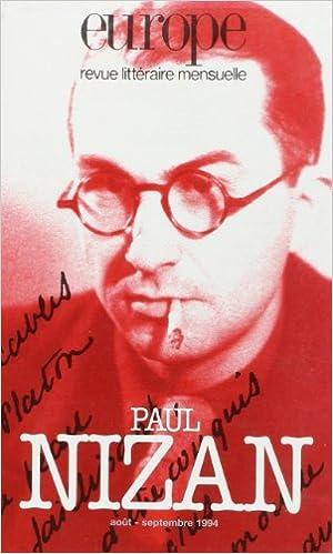 Read Paul Nizan, numéro 784-785 epub pdf