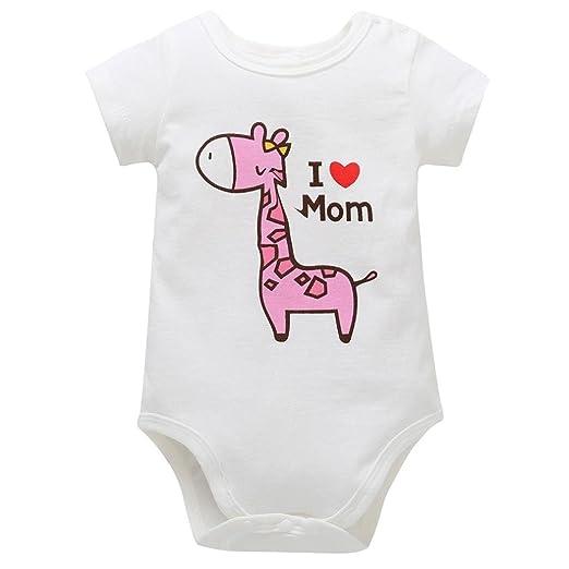 416359a2a Amazon.com  Newborn Infant Romper GoodLock Baby Boys Girls Giraffe ...