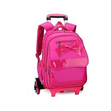Große Trolley Schultasche (Klasse 1-6) Mädchen Student Rucksack ...