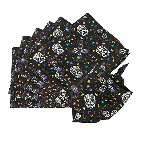 Day of the Dead Bandanas - 12 pc by Party Supplies]()