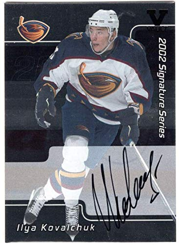 2001-02 BAP Signature Series Autographs #207 Ilya Kovalchuk From the Vault Version Autograph Card - Atlanta Thrashers