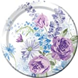 8-Count Round Paper Dinner Plates, Lilac Blossoms
