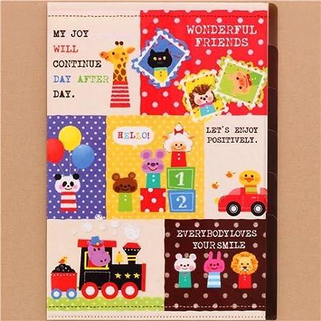 Carpeta de plástico colores A4 con 5 apartados juguetes ...
