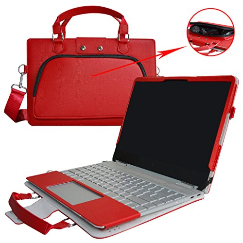 Spectre X360 13 Case,2 in 1 Accurately Designed Protective PU Cover + Portable Carrying Bag for 13.3 HP Spectre X360 13 13-w000 13-ac000 Series Laptop(Not fit 13-af000/13-ae000/13-4000 Series),Red