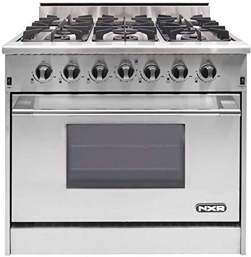"NXR DRGB3602 Professional Style Gas Range, 36"", Stainless Steel"